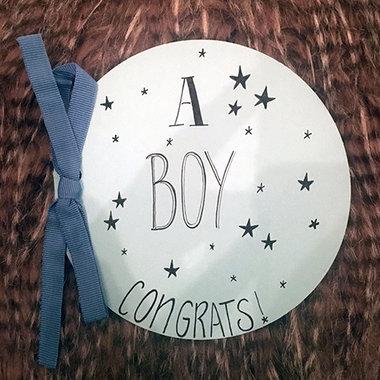 Babykaart Congrats A Boy