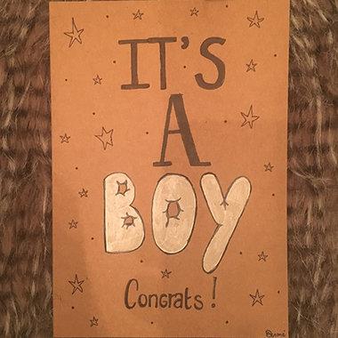 Babykaart Congrats It's A Boy