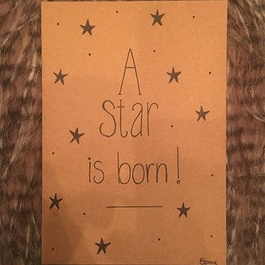 Babykaart A Star is Born