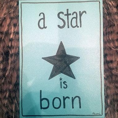 Babykaart A Boy Star is Born