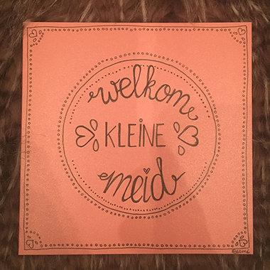 Babykaart Welkom Kleine Meid
