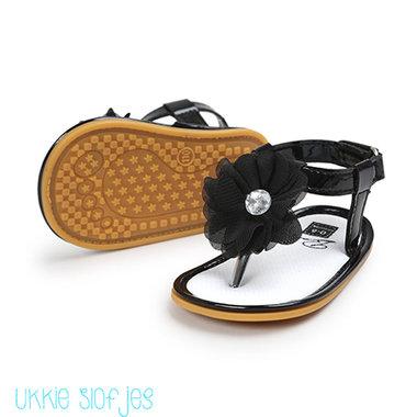 Baby Slippers Diamond Black