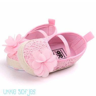 Baby Ballerina Kant Roze Maat 18-20