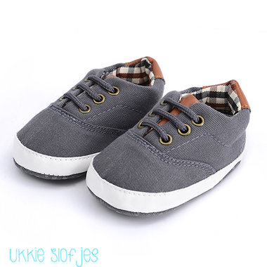 Baby Gympen Oxford Antraciet Maat 18,20