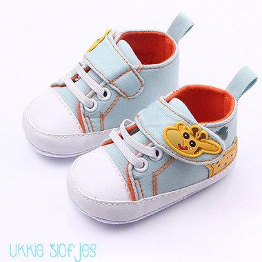 Baby Sneakers Giraffe Blauw Maat 19