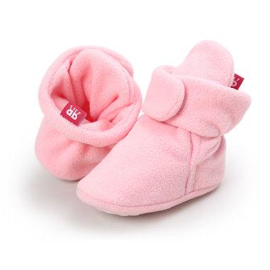 Baby Sloffen Fleece Roze Maat 18,21
