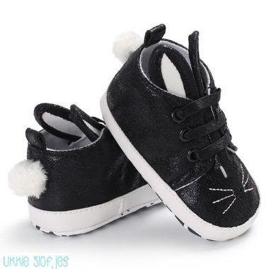 Baby Gympen Bunny Black Maat 20