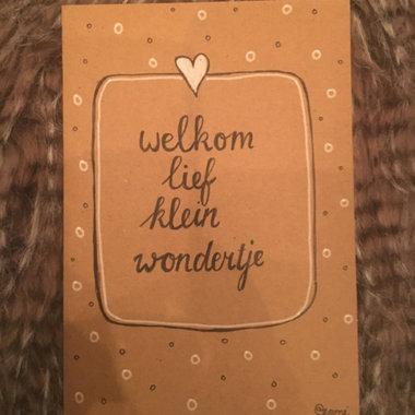 Babykaart Welkom Wondertje