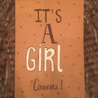 Babykaart Its a Girl