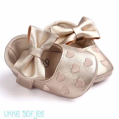 Baby Ballerina Hartjes Gold Maat 19