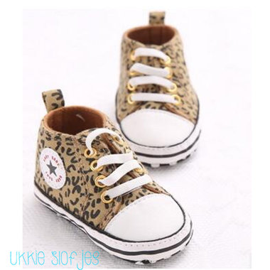 Baby Gympen Leopard Brown Maat 18-21