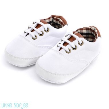 Baby Gympen Oxford White Maat 18