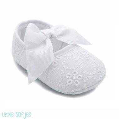 Baby Ballerina Broderie Wit Maat 18-19