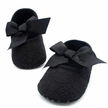 Baby Ballerina Broderie Zwart Maat 18