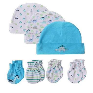 Baby Setje Muts en Krabwantjes Blauw