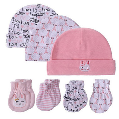 Baby Setje Muts en Krabwantjes Pink
