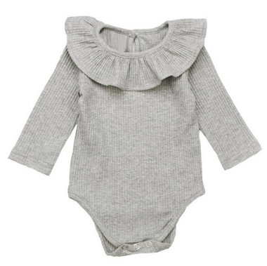 Baby Romper Grijs Knitted