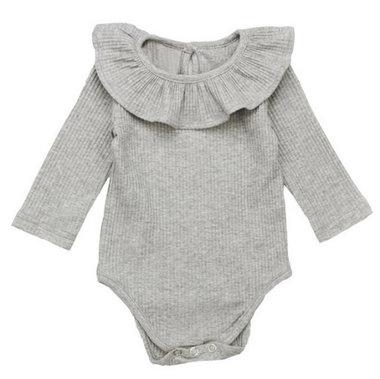 Baby Romper Grijs Knitted Maat 70-80