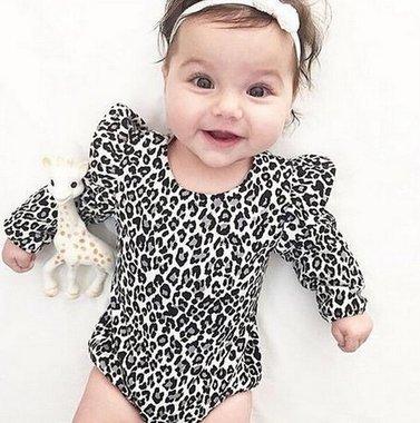 Baby Romper Luipaard