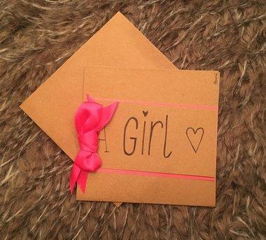 Babykaart A Girl