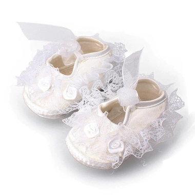 Kanten Baby Bruidsmeisjesschoenen Wit Maat 18