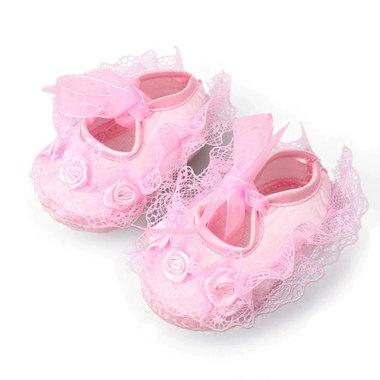 Kanten Baby Bruidsmeisjesschoenen Roze Maat 17