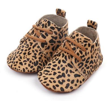 Leren Baby Mocassin Cheetah