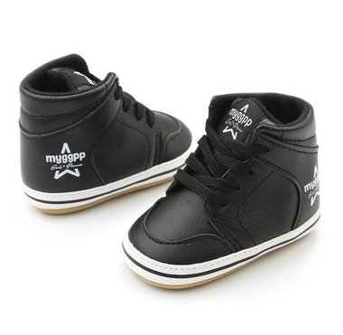 Baby Sneaker Hoog Black Maat 18