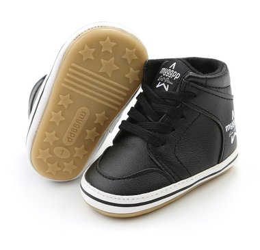 Baby Sneaker Hoog Black Maat 18&19