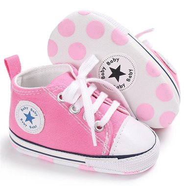 Baby Gympen Chuck Pink Maat 18&20