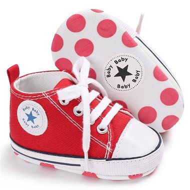 Baby Gympen Chuck Red Maat 18-20
