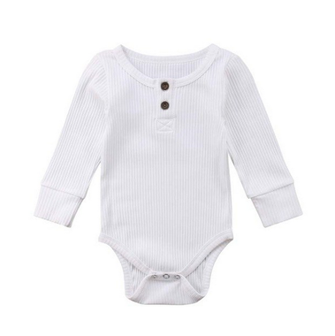 Baby Romper Knitted white