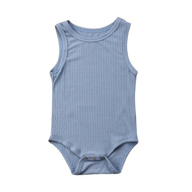 Baby Romper Knitted Blue