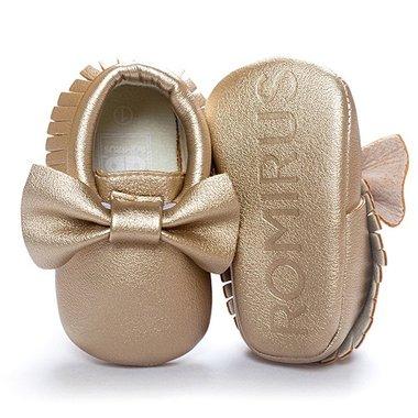 Baby Mocassin Ribbon Gold Maat 19