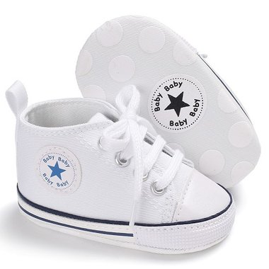 Baby Gympen Chuck White Maat 18-20