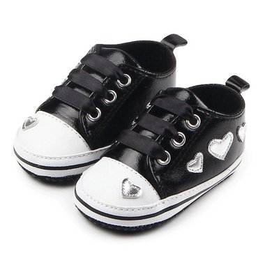 Baby Sneakers Heartbeat Black Maat 20