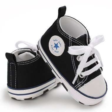 Baby Gympen Chuck Black Maat 19-20