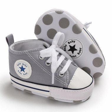 Baby Gympen Chuck Grey Maat 18-20