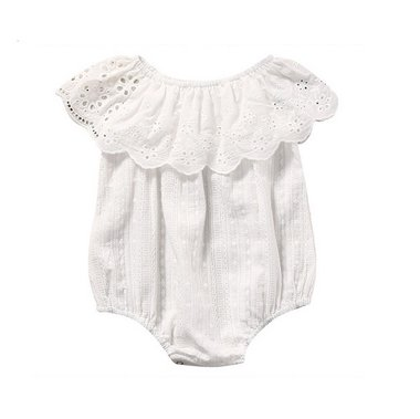 Baby Romper Broderie Creme