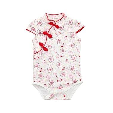 Baby Romper Cheonsam Red