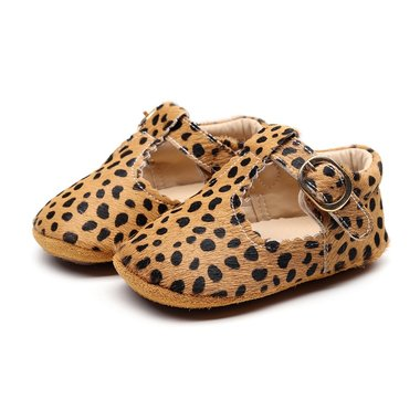 Babyschoenen Amy Leer Cheetah Maat 18,20