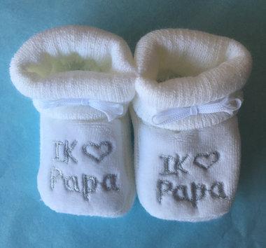 Babyslofjes Newborn I love Papa