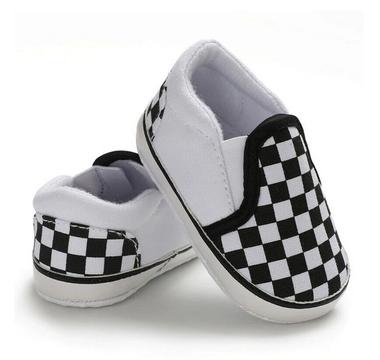 Baby Bootschoenen Zwart Wit Geblokt Maat 18