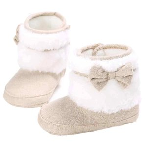 Baby Laarzen Ribbon Taupe Winter