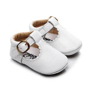 Babyschoenen Amy Leer Wit
