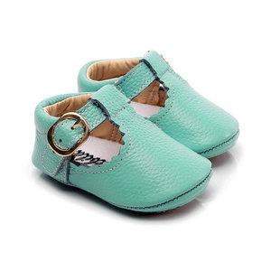 Babyschoenen Amy Leer Turkoois