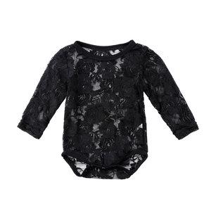 Baby Romper Rose Lace Black