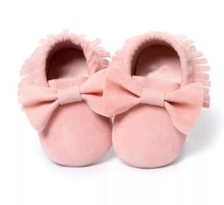 Baby Mocassin Ribbon Pink