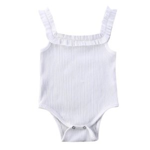 Baby Romper Mouwloos Wit