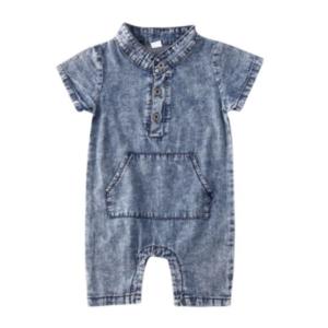 Baby Romper Denim Blue